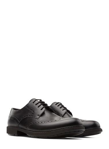 Camper %100 Deri Oxford Ayakkabı Siyah